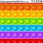 Adesivo para Cofrinho Kit Festa Fidget Toys