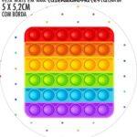 Adesivo para garrafinha Kit Festa Fidget Toys