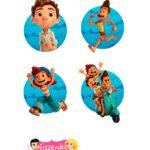 Aplique Caixinhas Kit Festa Luca Disney