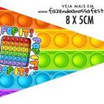 Bandeirinha Sanduiche para imprimir Pop It Fidget Toys