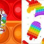 Bandeirinha de Dois Lados Pop It Fidget Toys