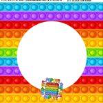 Bandeirola personalizada Pop It Fidget Toys