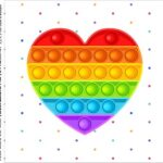 Caixa Acrilico 5x5 Kit Festa Pop It Pop It Fidget Toys