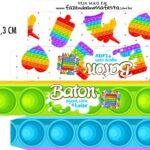 Caixa Baton Pop It Fidget Toys
