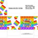 Caixa Kit Colorir Pop It Fidget Toys
