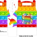 Caixa Maleta Surpresa Pop It Fidget Toys