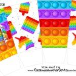 Caixa Pipoca Pop It Fidget Toys