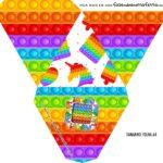 Caixa Piramide Personalizada Pop It Fidget Toys