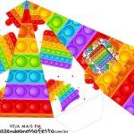 Caixa Piramide Pop It Fidget Toys