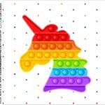Caixinha Acrilico Pop It Fidget Toys