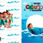 Capa Livrinho para Colorir Luca Disney