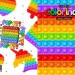 Capa Livrinho para Colorir Pop It Fidget Toys