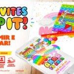 Convite Festa Pop It para Imprimir