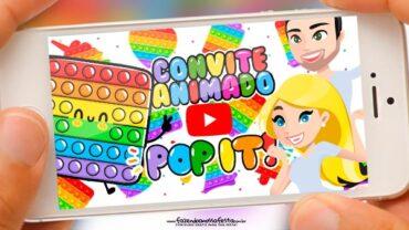 Convite animado Pop It