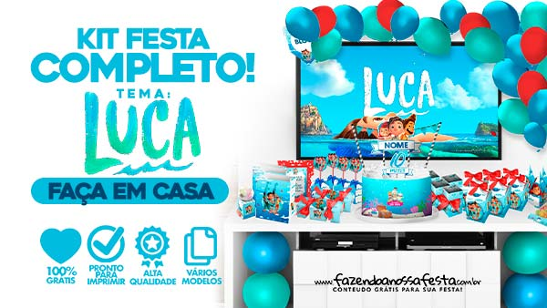 Kit Festa Luca Disney para imprimir