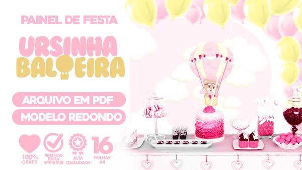Painel Festa Ursinha Baloeira