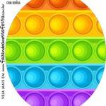 Rotulo Oval Pop It