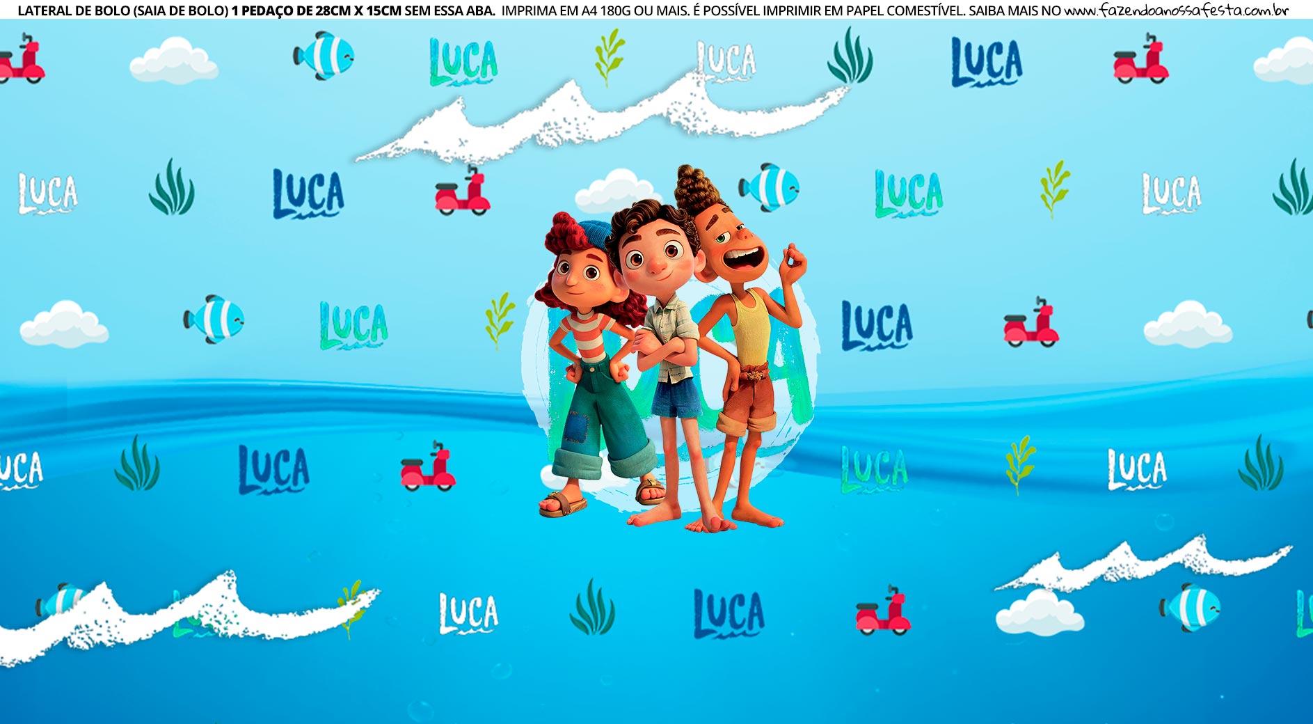 Saia de bolo Luca Disney 3