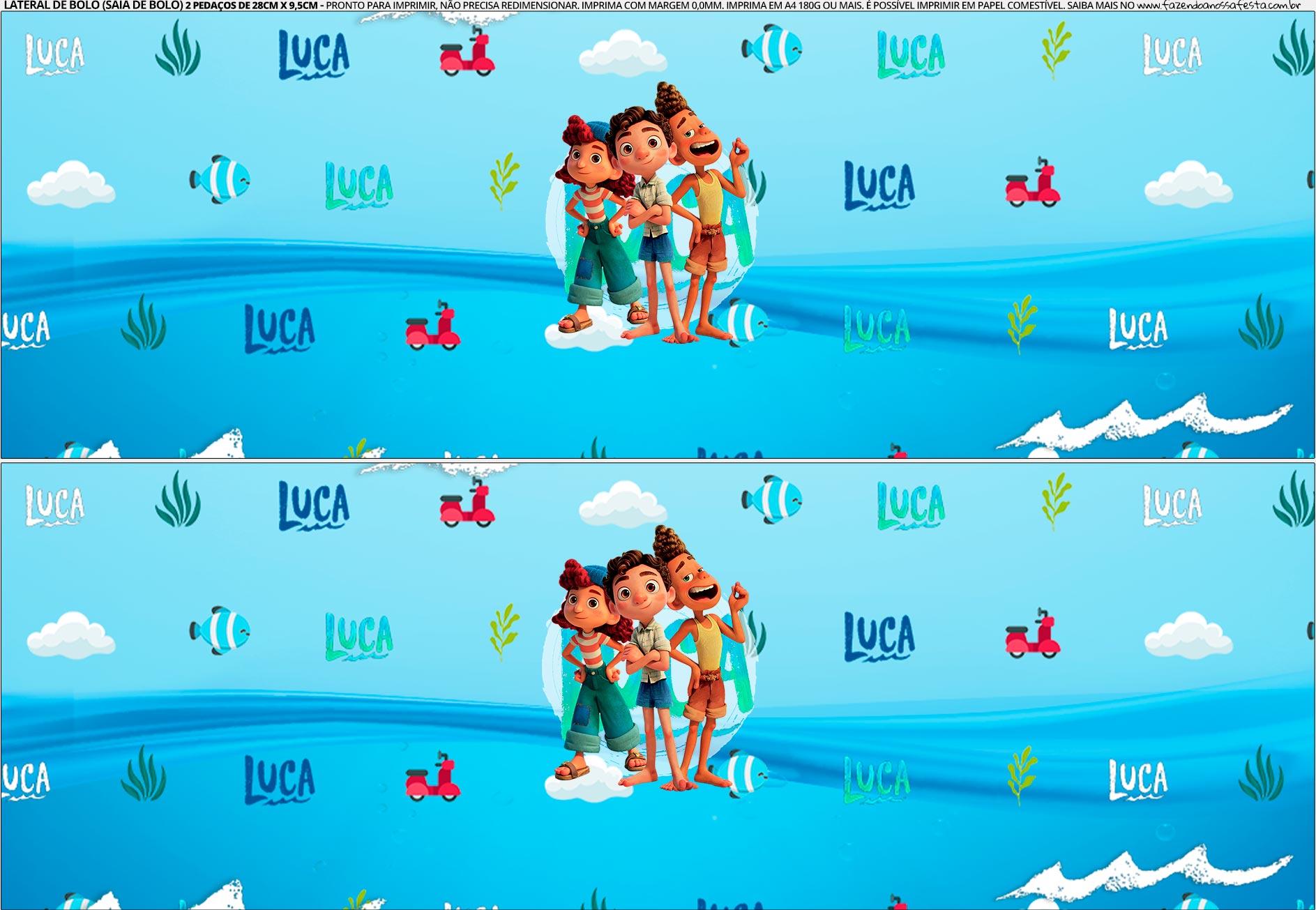 Saia de bolo Luca Disney