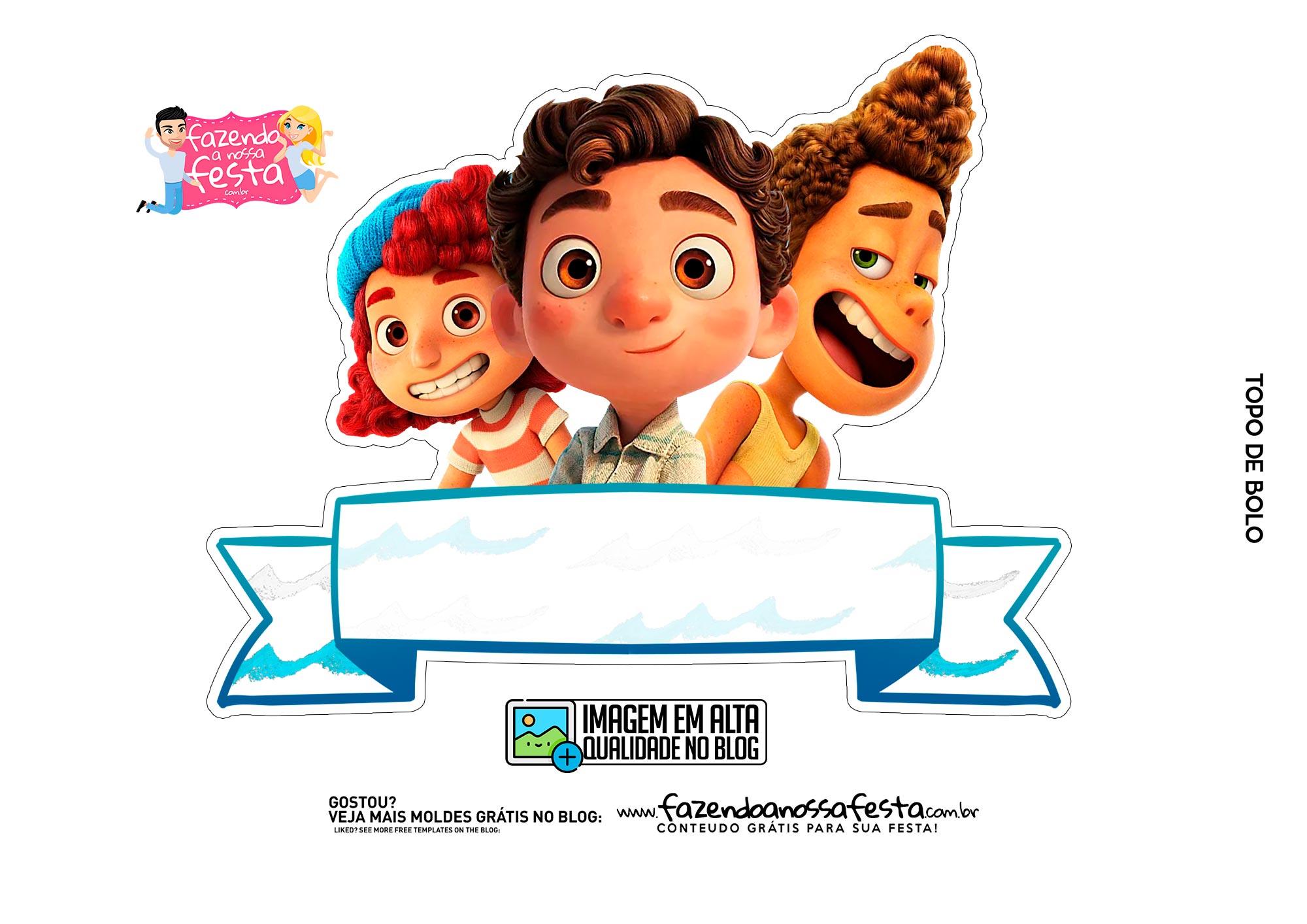Topo de bolo Luca Disney 2