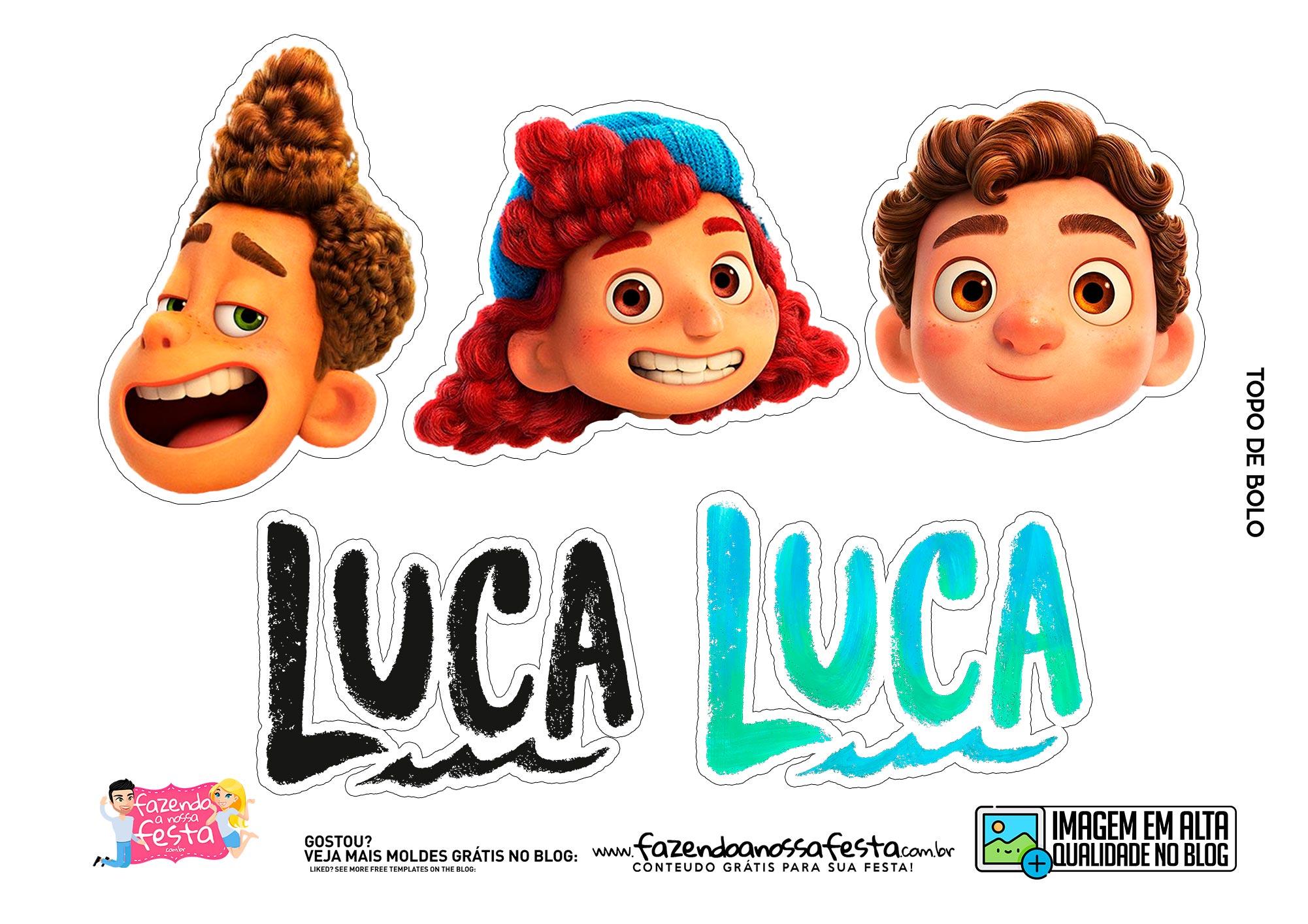 Topo de bolo Luca Disney