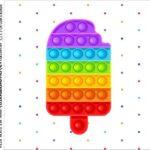 caixa de acrilico adesivo personalizado Pop It Fidget Toys