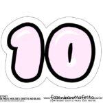 10 Numeros Pop It Candy Color