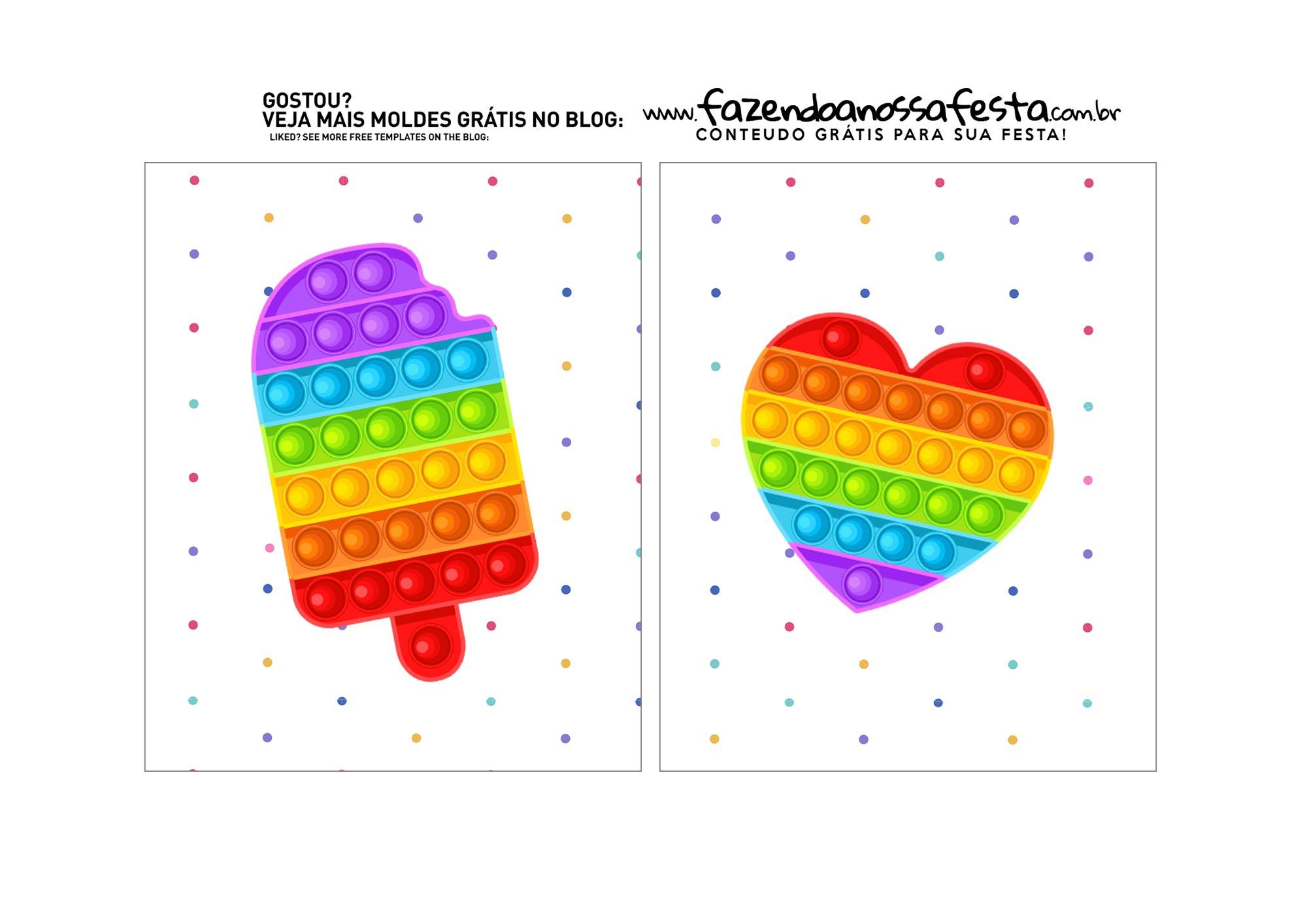 caixa mini confeiteiro para o dia das crianças Abas Pequenas Internas 2 Pop It Parte 5