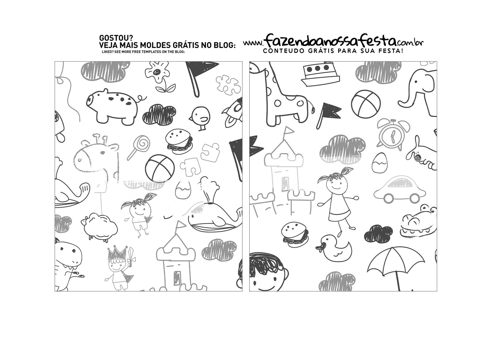 caixa confeiteiro surpresa dia das criancas Abas Pequenas Internas Parte 5