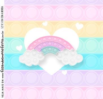 Adesivo Caixa Acrilica Pop It Candy Color