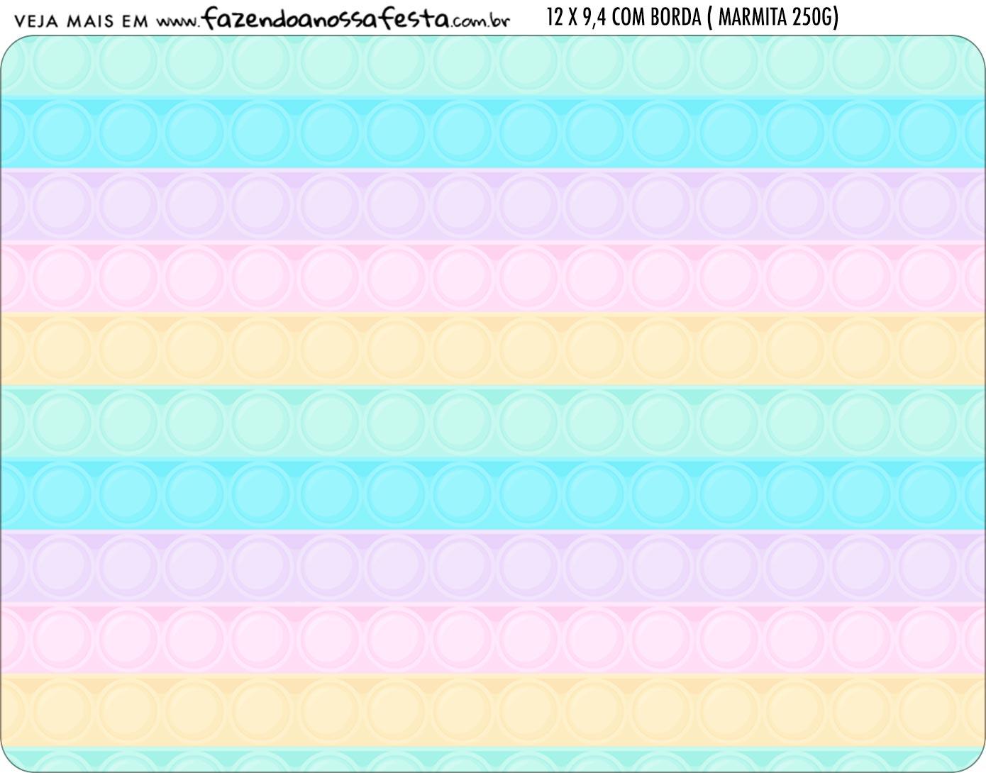 Adesivo Marmitinha Personalizada Pop It Candy Color