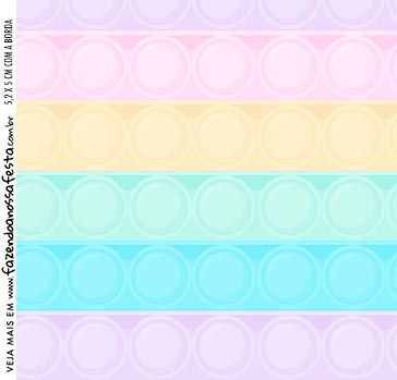 Adesivo Quadrado Pop It Candy Color