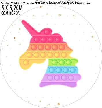 Adesivo para garrafinha Pop It Candy Color