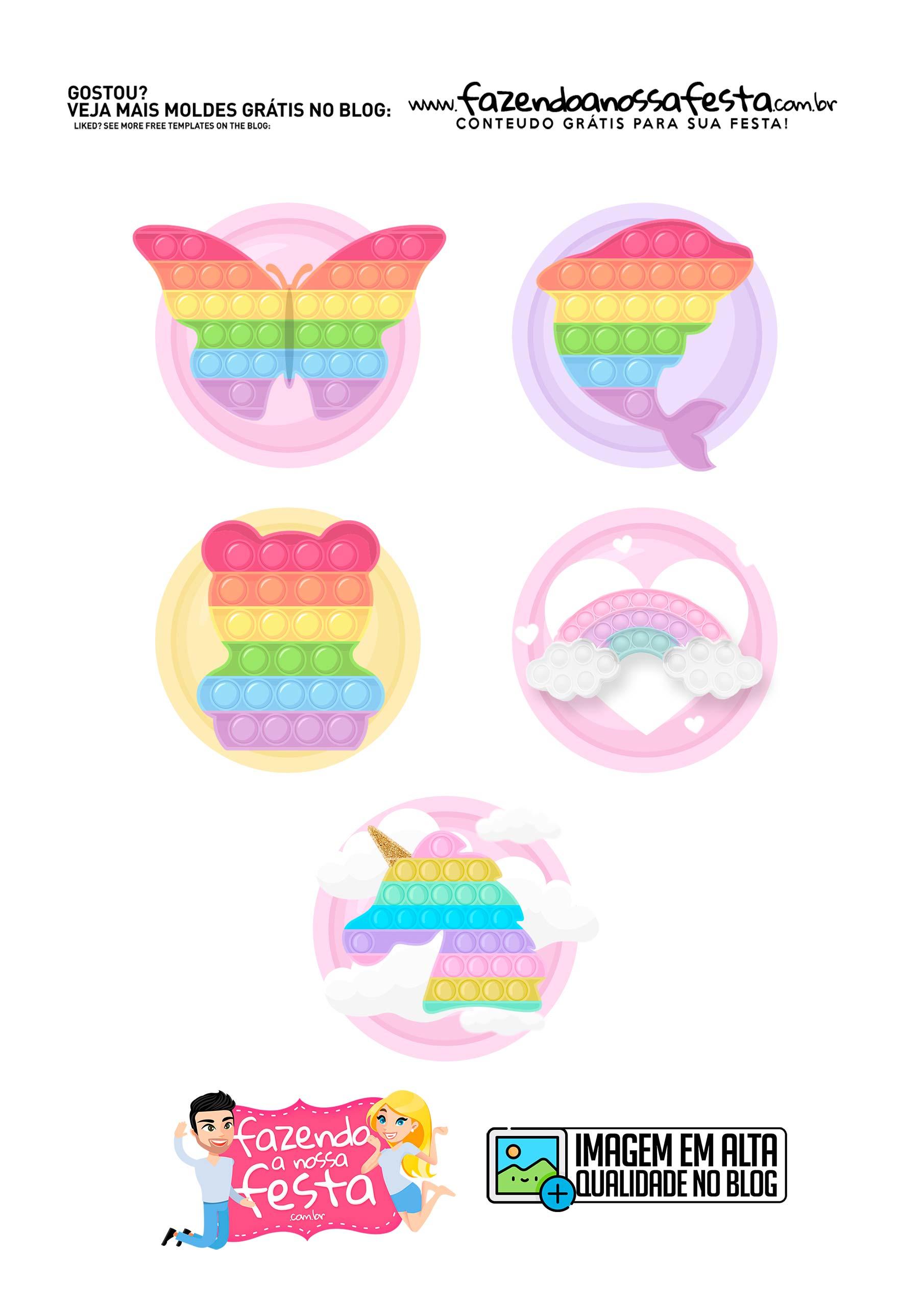 Aplique 2 Pop It Candy Color