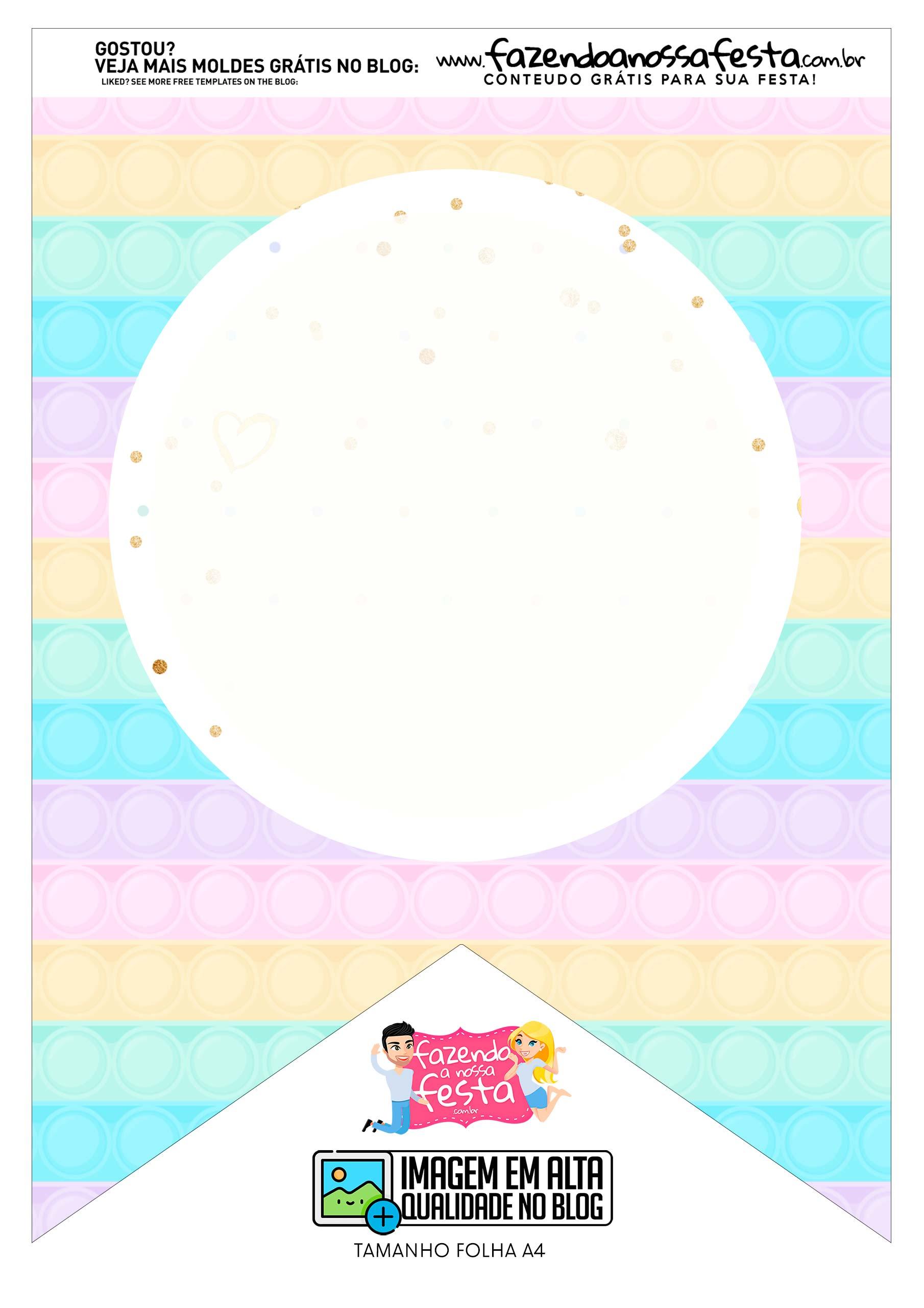 Bandeirinha 2 Pop It Candy Color