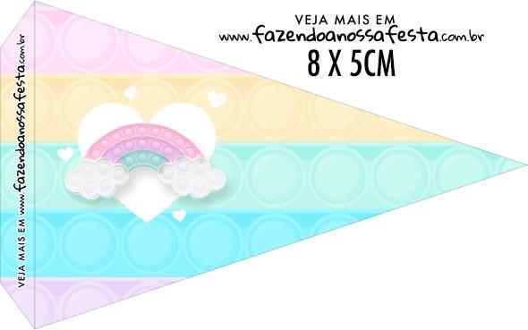 Bandeirinha Sanduiche para imprimir Pop It Candy Color
