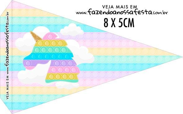 Bandeirinha Sanduiche personalizado Pop It Candy Color