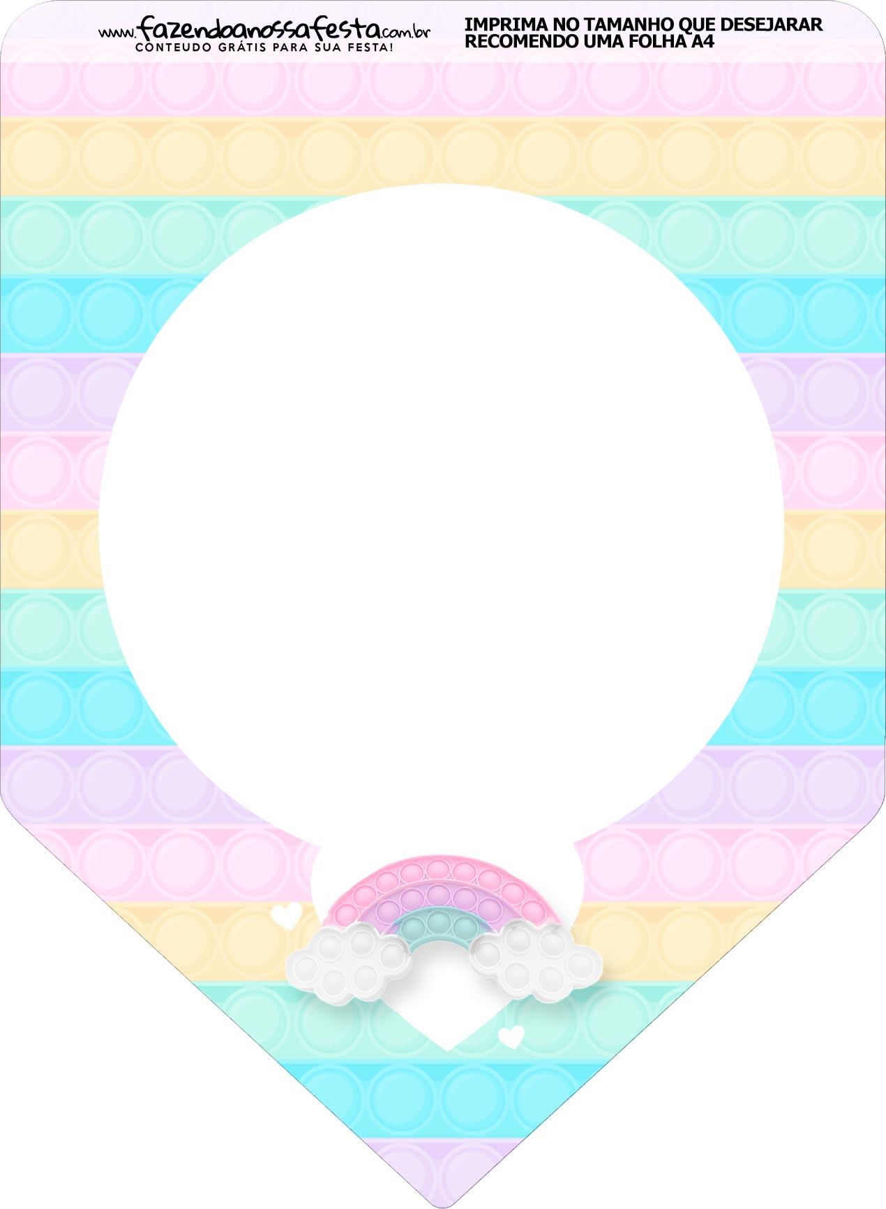 Bandeirinha Varalzinho Pop It Candy Color