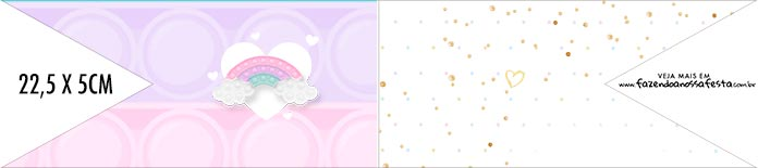 Bandeirinha de Dois Lados Pop It Candy Color