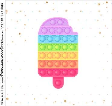 Caixa Acrilico 5x5 Pop It Candy Color