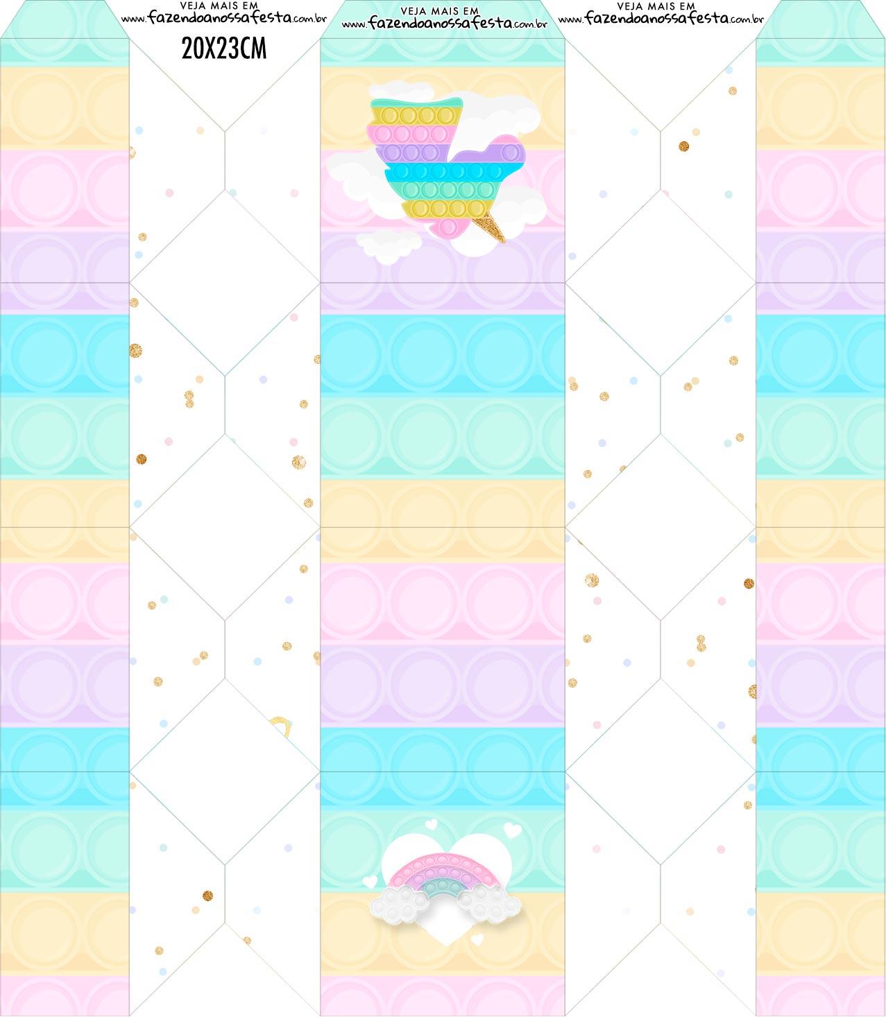 Caixa Bala Pop It Candy Color