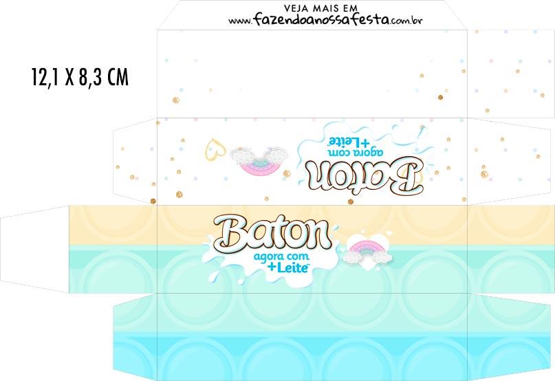 Caixa Baton Pop It Candy Color