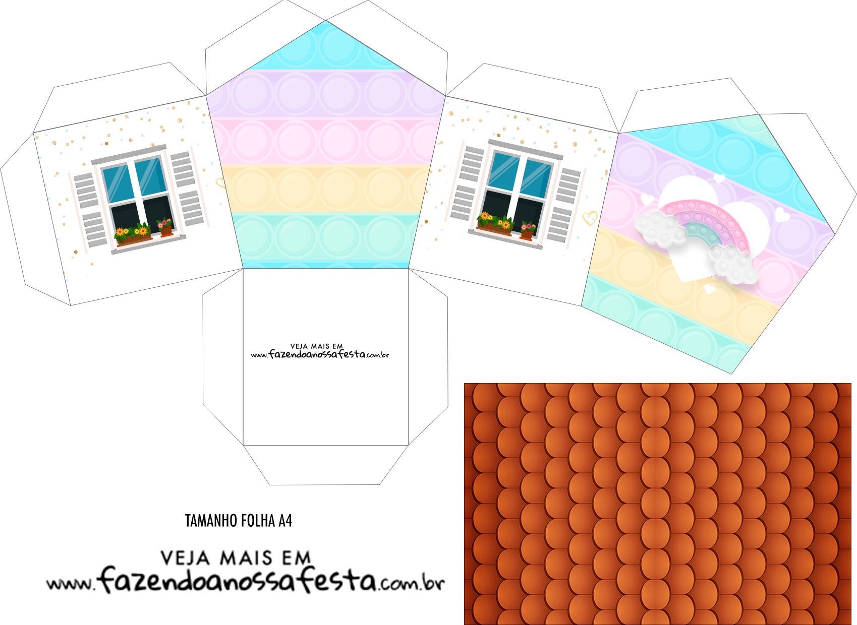 Caixa Casinha Pop It Candy Color