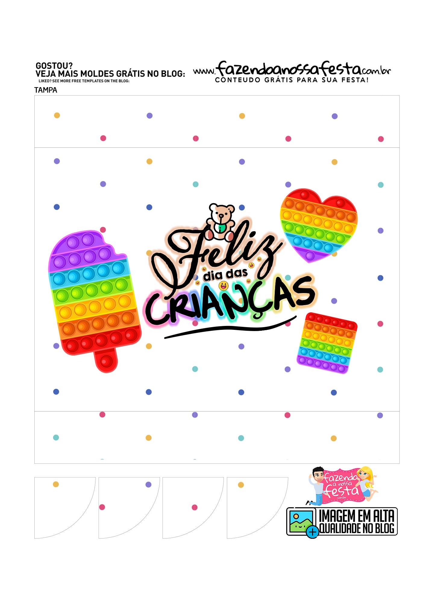 Caixa Maleta Colorir Dia das Criancas parte 1