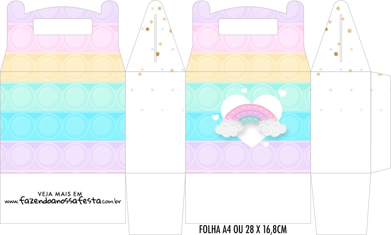 Caixa Maleta Surpresa Pop It Candy Color