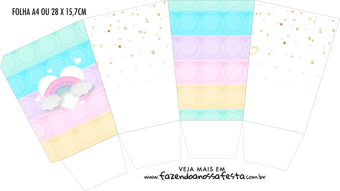 Caixa Pipoca Pop It Candy Color