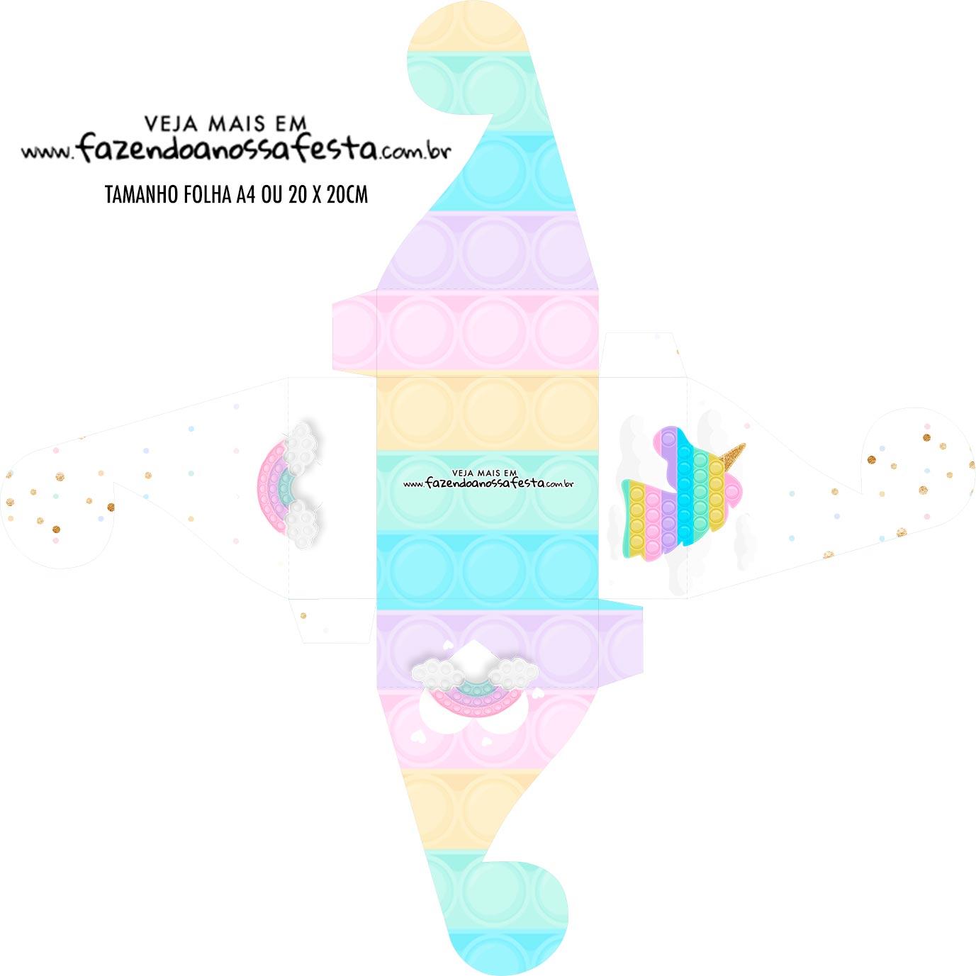 Caixa bombom personalizada Pop It Candy Color
