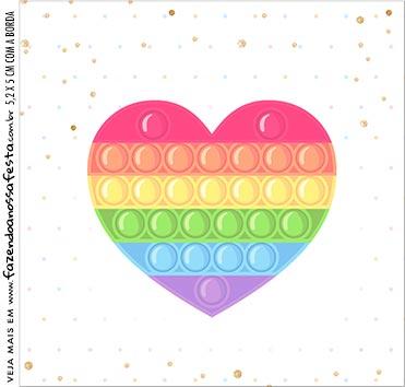 Caixinha Acrilico Pop It Candy Color
