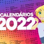Calendario 2022 para imprimir