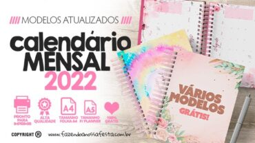 Calendario Mensal 2022 para imprimir